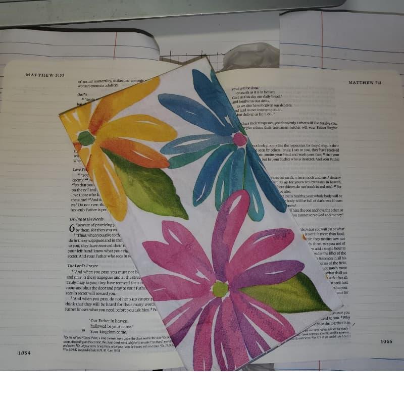 napkin decoupage Bible journaling