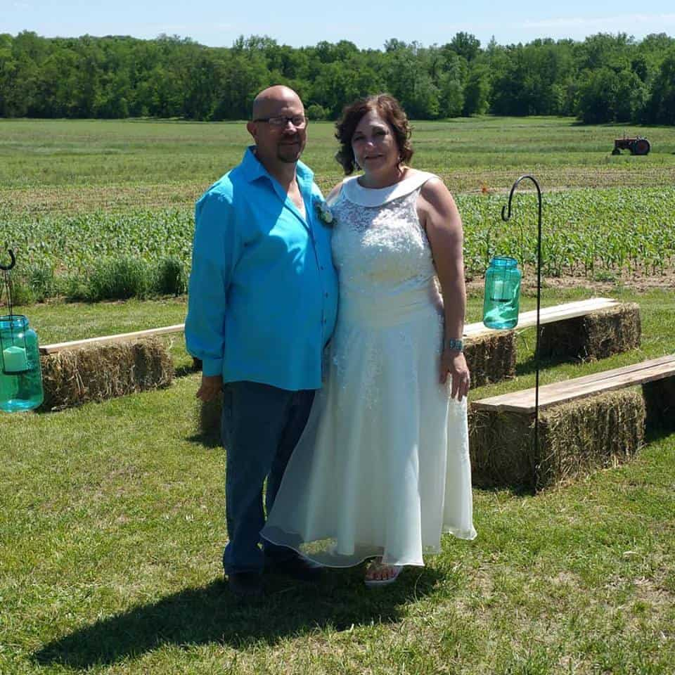 wedding photo, Mike and I