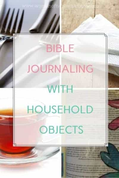 Bible journaling with forks, tea, napkins