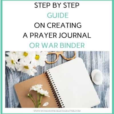 step by step guide to creating a DIY prayer journal