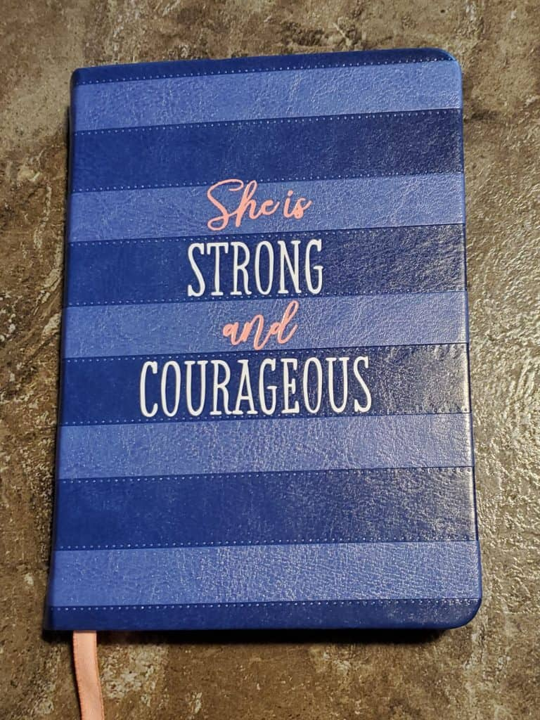 She is Strong and Courageous devotional