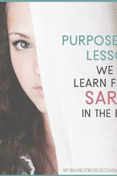 Lessons from Sarah in the Bible