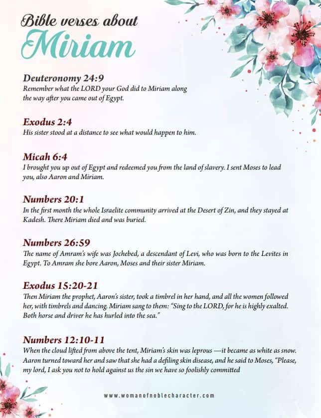 Bible verses about Miriam