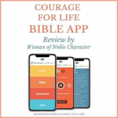 Courage for life Bible App