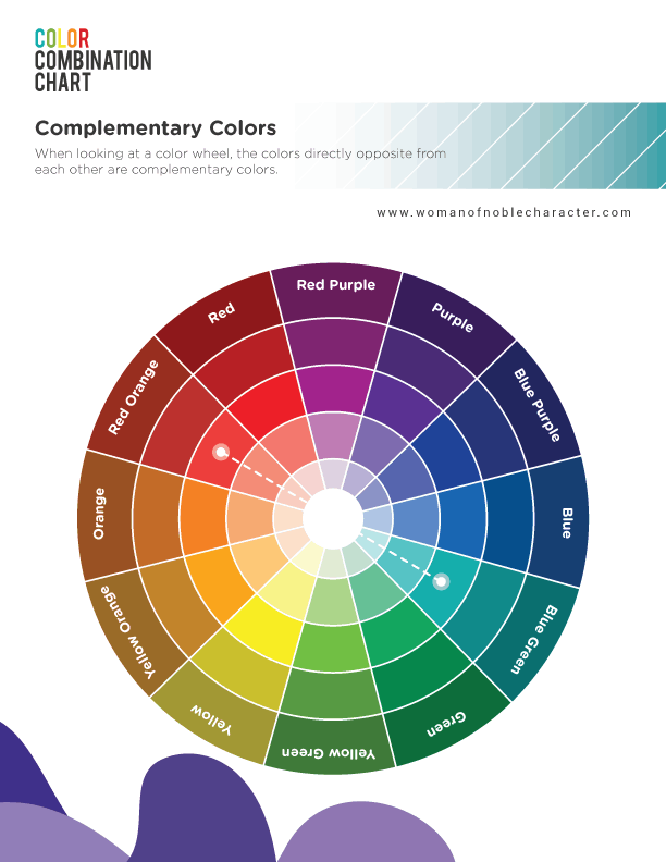 Color combinations for Bible journaling complementary