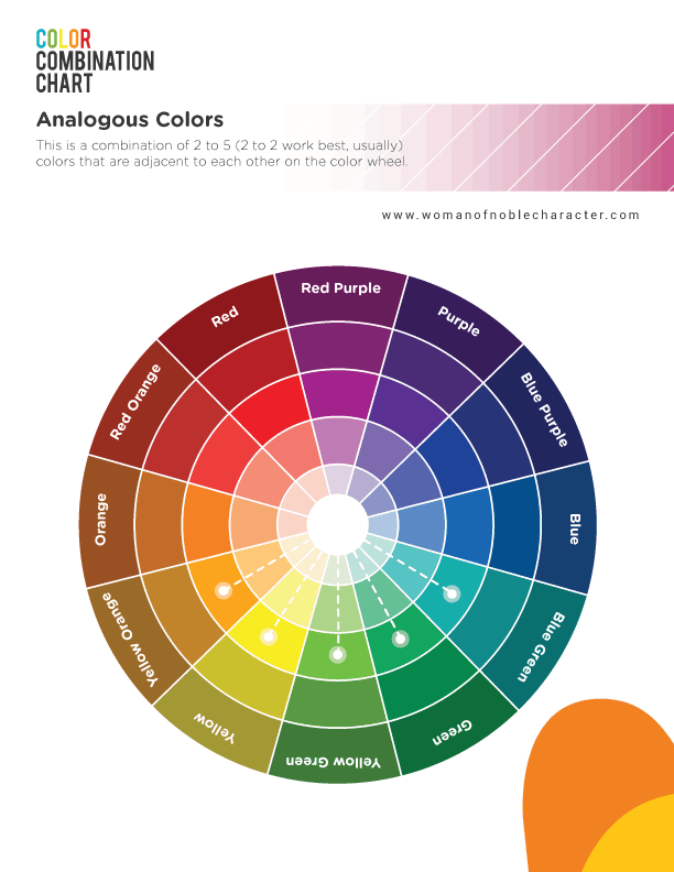 Color theory for Bible journaling analgous