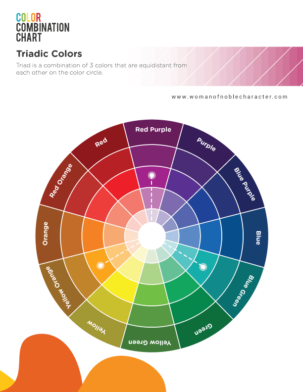 color combinations for Bible journaling triadic colors