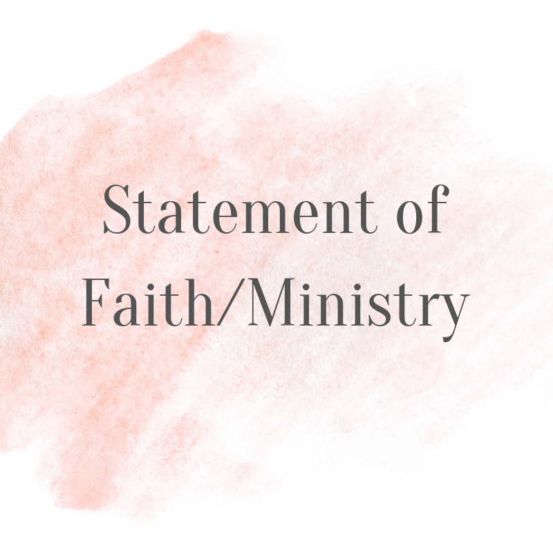 Meet Sue Nelson of Woman of Noble Character - Statement of Faith/Ministry