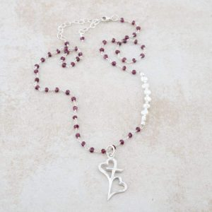 Holly Lane Christian Jewelry Hearts Connected Necklace