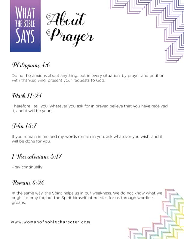 what the Bible says about prayer; war room strategy for prayer