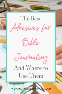 bible adhesives for bible journaling