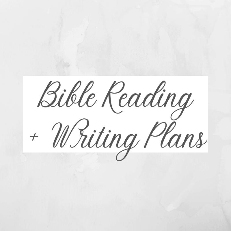 Bible Reading Writing Plans