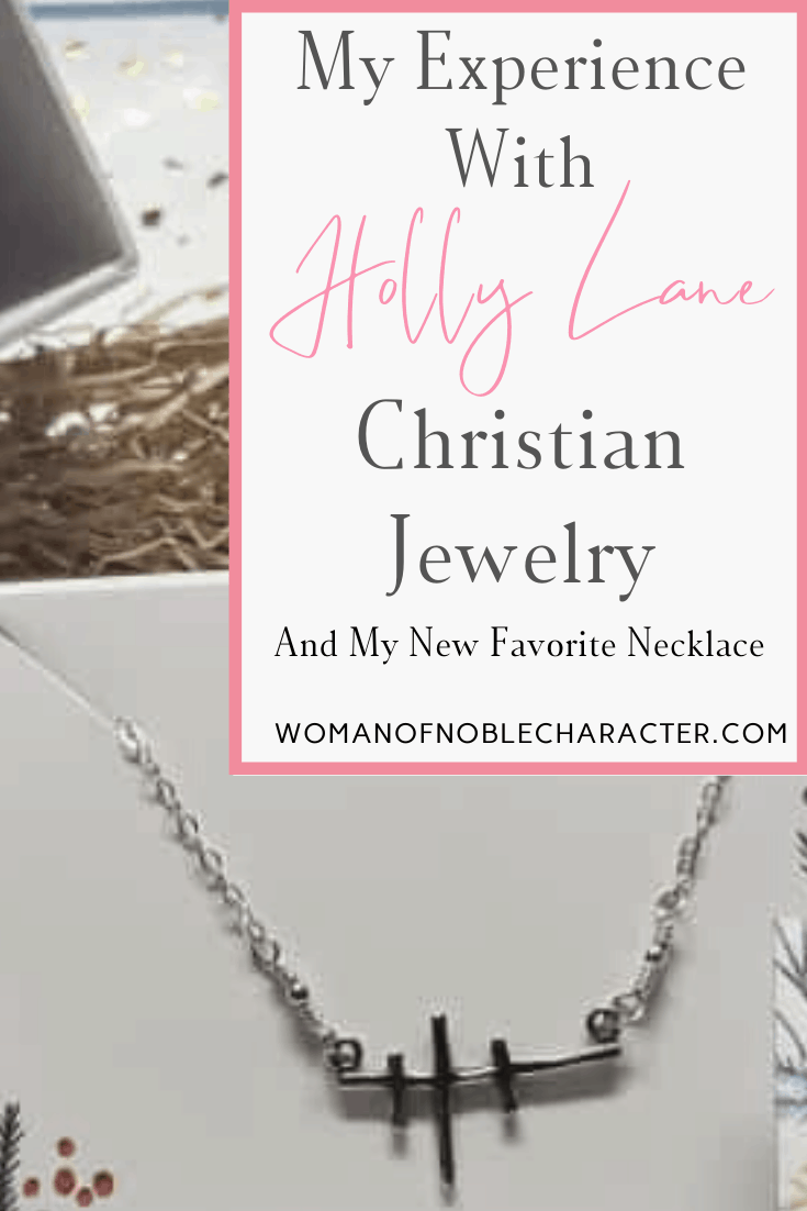 Holly Lane Christian Jewelry - an image of a cross necklace in a box from Holly Lane