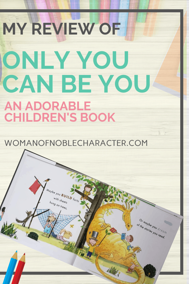 Only You Can Be You - A background of colored pencils with the book Only You Can Be You opened up and colored pencils next to it