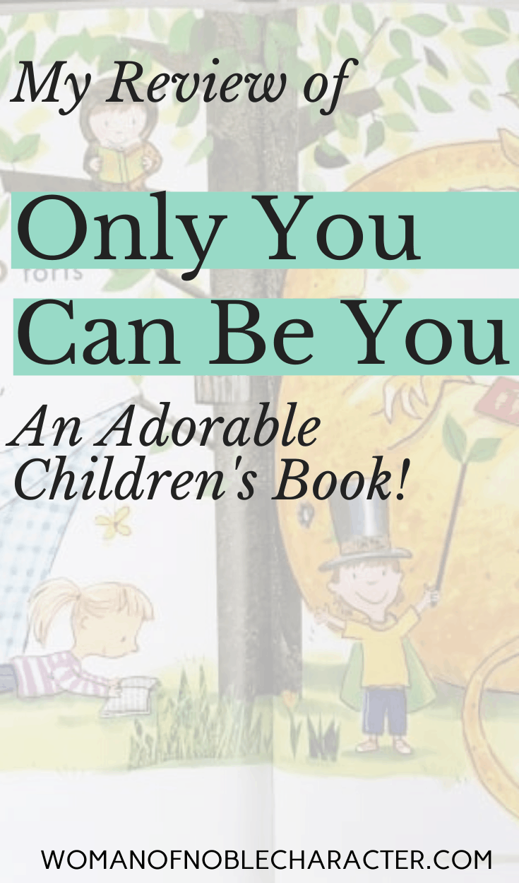 Only You Can Be You - A review of the children's book - an image of the book cover