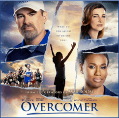 Overcomer movie on DVD and Blueray