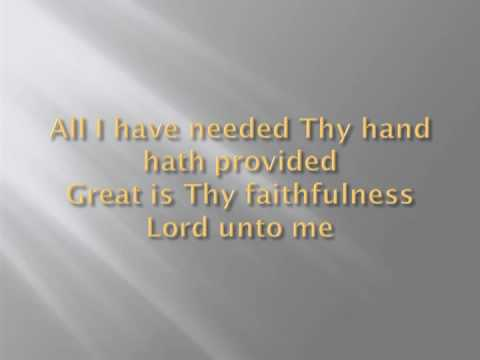 Great Is Thy Faithfulness - Chris Rice (Written by Thomas Obadiah Chisholm)