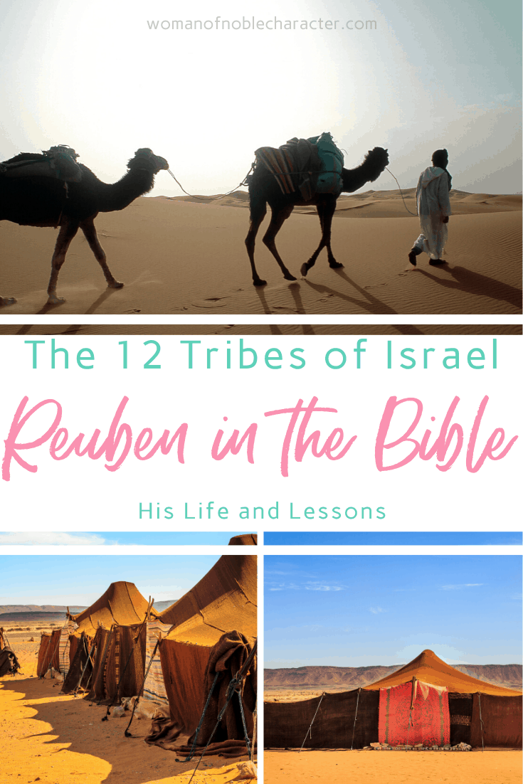 Reuben in the Bible - a man in the desert with a camel